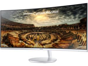 "Samsung C34F791 34"" Silver Curved FreeSync Gaming Monitor 3440 x 1440, 21:9 UltraWide, 4ms Response Time, 100 Hz Refresh Rate, 1500R Curvature, Tilt/Height Adjustable, HDMI x 2, DP, USB 3.0"