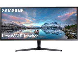 "Samsung S34J55W 34"" 3440 x 1440 Ultra WQHD 21:9 2K Resolution 4ms 75Hz 2x HDMI DisplayPort AMD FreeSync Eye Saver Flicker Free LED Backlit Monitor"