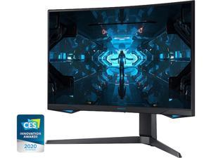"SAMSUNG LC27G75TQSNXZA 27"" Quad HD 2560 x 1440 2K 240Hz 1ms 2 x DisplayPort, HDMI G-Sync Compatible Flicker-Free Backlit LED Curved Gaming Monitor"