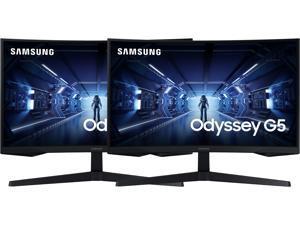 """SAMSUNG G5 Odyssey C27G55T 27"""" WQHD 2560 x 1440 (2K) 1ms GTG 144Hz HDMI, DisplayPort AMD FreeSync Premium 1000R Curved Gaming Monitor (2-Pack)"""