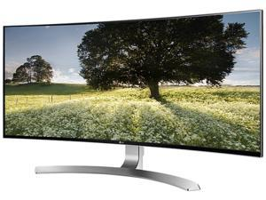 "LG 34UC98-W 34"" Curved FreeSync IPS Monitor 3440 x 1440 WQHD 5ms 21:9 UltraWide On-Screen Control with 4-way Screen Split, Thunderbolt 2.0 and USB 3.0 Quick Charge"