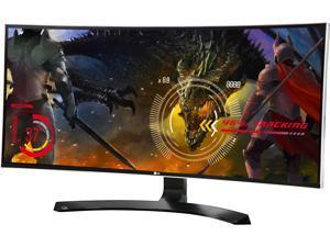 "LG 34UC88 34"" Curved FreeSync IPS Monitor 3440 x 1440 WQHD 21:9 UltraWide On-Screen Control with 4-way Screen Split, Height and Tilt Adjustable, USB 3.0/HDMI/DisplayPort, VESA Mountable"