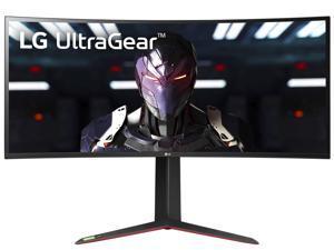 "LG UltraGear 34"" Quad HD 3440 x 1440 2K 160Hz (OC) 1ms 2xHDMI DisplayPort Radeon FreeSync 2 NVIDIA G-Sync Compatible USB 3.0 Hub Nano IPS Curved Gaming Monitor"