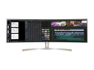 """LG UltraWide 49WL95C-WE 49"""" 32:9 Dual QHD 5120 x 1440 2K HDMI, DisplayPort, USB-C, Built-in Speakers HDR10 3-with Height/Tilt/ Swivel Adjustable Stand IPS Curved Monitor"""