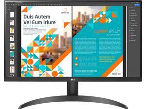"""LG 24"""" 24QP500-B 2560 x 1440 QHD 2K IPS 75Hz HDR10 AMD FreeSync HDMI DisplayPort VESA Tilt Monitor"""