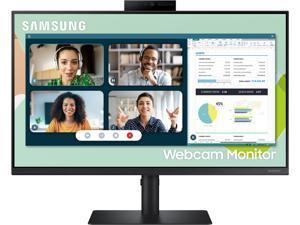 """Samsung S24A40 24"""" 1920 x 1080 Full HD IPS 75Hz FreeSync D-Sub DisplayPort HDMI USB 3.0 Built-In Speakers/Webcam Tilt Swivel Pivot Height Adjust VESA Monitor"""