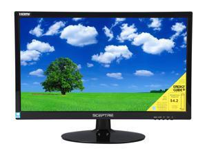 "SCEPTRE E225W-1920 Black 22"" 5ms HDMI Widescreen LED Backlight LCD Monitor 250 cd/m2 DCR 5,000,000:1 (1000:1) Built-in Speakers, US Warranty"
