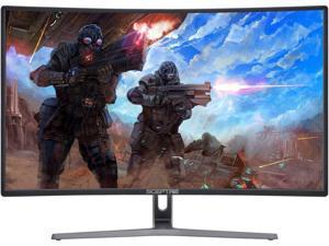 """SCEPTRE C248B-144R 24"""" Full HD 1920 x 1080 144 Hz DVI, HDMI, DisplayPort FreeSync (AMD Adaptive Sync) Curved 144 Hz Full HD 1920 x 1080 1800R Curved Gaming Monitor w/ AMD FreeSync"""