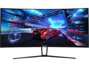 "SCEPTRE C355W-3440UN 35"" Ultrawide Quad HD 3440 x 1440 2K Resolution 100Hz 3 x HDMI, DisplayPort Radeon FreeSync G-Sync Compatible Anti-Glare LED Backlit Curved Gaming Monitor"