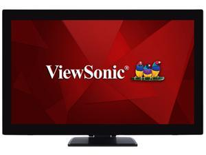 """ViewSonic TD2760 Black 27"""" Full HD 1920x1080 Mega Dynamic Contrast VGA HDMI DisplayPort USB Ports Built-in Speakers 10-Point Multi-Projective Capacitive Touchscreen LED Monitor"""