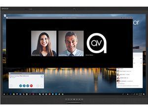 "Avocor W6555 65"" 4K Ultra HD Interactive Digital Signage with 20-point Touch, 1 x USB Type C, 3 x USB-B 3.0 Hub, 2 x 30W Built-in Stereo Speakers - AVW6555"