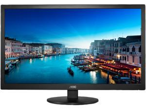 "AOC E2770SHE Black 27"" 2ms 60Hz TN 1920 x 1080 Widescreen LCD Monitor, AOC FlickerFree Technology, Eco-Friendly and Low-Power Consumption, VESA Mountable"