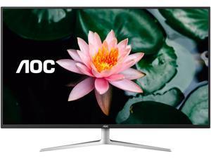 "AOC U4308V 43"" 4K UHD Monitor, 1 Billion+ Colors IPS Panel, 124% sRGB/ 109% NTSC, 2xHDMI/DP/VGA, PIP/PBP, USB 3.0 Hub, VESA, Speakers"