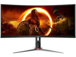 """AOC CQ34G2 34"""" WFHD 2560 x 1080 75Hz HDMI, DisplayPort, Audio FreeSync (AMD Adaptive Sync) Gaming Monitor"""
