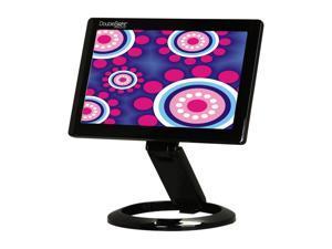 "DoubleSight DS-70U Black 7"" WVGA 800 x 480 30ms Height, Pivot & Tilt Adjustable Smart USB LCD Monitor"