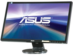 "ASUS VE248H 24"" Full HD 1920 x 1080 2ms (GTG) D-Sub, DVI, HDMI Built-in Speakers Asus Eye Care with Ultra Low-Blue Light & Flicker-Free LED Backlight Monitor"
