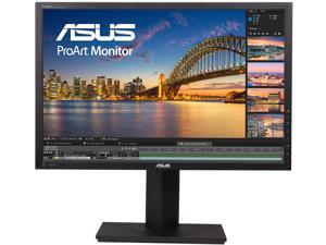 "ASUS ProArt PA248Q Black 24"" (Actual size 24.1"") 6ms (GTG) 16:10, 1920 x 1200, IPS, 100% sRGB, Color Accuracy Delta E< 5, Flicker Free, HDMI, D-Sub, DisplayPort, DVI-D LCD Monitor"