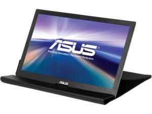 """ASUS MB168B 16"""" (Actual size 15.6"""") Widescreen LED Backlight HD Portable USB-powered Ultra-slim  Monitor with Smart Case"""