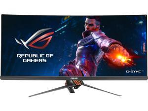 "ASUS ROG Swift PG348Q Gray 34"" 3440 x 1440, 100 Hz Curved IPS G-Sync 21:9 U-WQHD 100% sRGB Gaming Monitor with Speakers, Tilt, Swift, Height-Adjustable, VESA Mount"