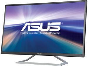 """ASUS VA325H Black 31.5"""" Widescreen IPS Monitor, ASCR 100,000,000:1 (1,200:1) 250 cd/m2, Dual Built-in Speakers, HDMI, VGA"""