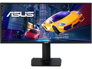 "ASUS VP348QGL 34"" Quad HD 3440 x 1440 75Hz 4ms 2xHDMI DisplayPort Adaptive-SYNC/FreeSync HDR-10 Blue Light Filter Flicker Free Asus Eye Care Built-in Speakers Ultra Wide Backlit LED Gaming Monitor"