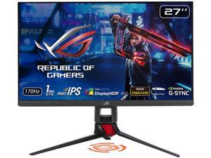 "ASUS ROG Strix XG279Q 27"" WQHD 2560 x 1440 (2K) 1ms (GTG) 170Hz (Overclocking) 2 x HDMI, DisplayPort G-Sync Compatible Built-in Speakers DisplayHDR 400 Frameless Design LED Backlit IPS Gaming Monitor"