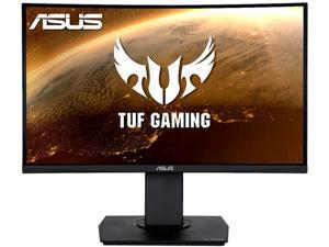 "ASUS TUF Gaming VG24VQ 24"" Full HD 1920 x 1080 1ms MPRT 144Hz 2 x HDMI, DisplayPort AMD FreeSync Asus Eye Care with Ultra Low-Blue Light & Flicker-Free LED Height Adjustable Curved Gaming Monitor"