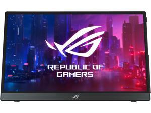 """ASUS ROG Strix XG16AHPE 15.6"""" 1080P Full HD, 144Hz, IPS, G-SYNC Compatible, Built-in Battery, Kickstand, USB-C Power Delivery, Micro HDMI, For Laptop, PC, Phone, Console Portable Gaming Monitor"""