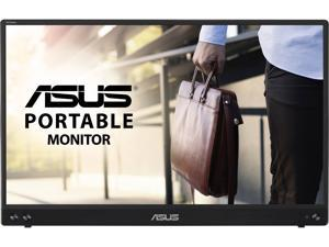 """ASUS ZenScreen MB16ACV 15.6"""" 1080P Full HD, IPS, Eye Care, Flicker Free, Blue Light Filter, Kickstand, USB-C Power Delivery, for Laptop, PC, Phone, Console, Antibacterial Surface Portable Monitor"""