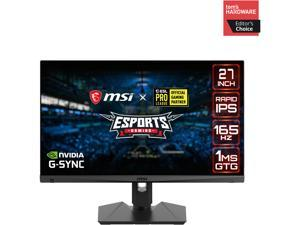 """MSI Optix MAG274QRF-QD 27"""" WQHD 2560 x 1440 (2K) 1ms (GTG) 165 Hz 2 x HDMI, DisplayPort, USB-C NVIDIA G-Sync Compatible Gaming Monitor with Quantum Dot Technology"""