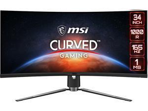 "MSI MPG ARTYMIS 343CQR 34"" UWQHD 3440 x 1440 (2K) 165 Hz 2 x HDMI, DisplayPort, USB Curved Gaming Monitor"