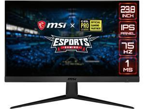 """MSI Optix G241V E2 24"""" Full HD 1920 x 1080 1 ms 75 Hz HDMI, DisplayPort AMD FreeSync IPS Gaming Monitor"""