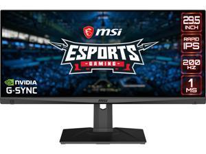 "MSI 29.5"" Optix MAG301RF Full HD 2560 x 1080 200Hz SS IPS 1ms (GTG) DisplayPort HDMI Tilt Swivel Height Adjust VESA G-Sync Compatible Gaming Monitor"