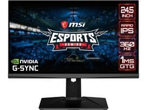 """MSI 24.5"""" Oculux NXG253R 1920 x 1080 FHD 360Hz Rapid IPS 1ms GTG DisplayPort HDMI USB 3.2 Tilt Swivel Pivot Height Adjust VESA G-Sync Gaming Monitor"""