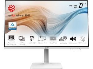 "MSI MD271PW 27"" 1920 x 1080 Full HD IPS 75Hz HDMI USB Type-C VESA Tilt Swivel Pivot Height Adjust Built-In Speakers White Monitor"