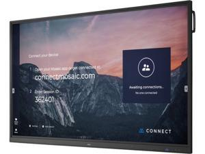 """NEC CB751Q 75"""" Ultra HD Interactive Digital Signage with Integrated 10pt IR Touch and Built in SoC w/ Whiteboarding and Wireless Presenting Software"""