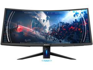 "Westinghouse WC34DX9019 34"" UWQHD 3440 x 1440 2K Resolution 100Hz 2xHDMI DisplayPort USB 3.0 Hub AMD FreeSync Technology Flicker-Free Ultra Widescreen Curved Backlit LED Gaming Monitor"