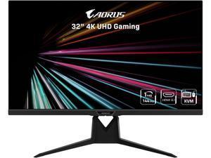 "AORUS FI32U 32"" (31.5"" Viewable) 4K SS IPS Exclusive Built-in ANC, 3840x2160 144Hz 1ms GTG, DP 1.4, HDMI 2.1, 2x USB 3.0, KVM w/ USB Type-C, AMD FreeSync Premium Pro Height Adjust Gaming Monitor"