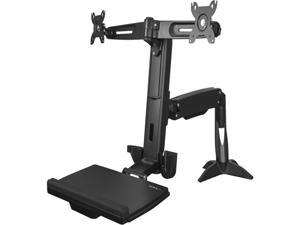StarTech ARMSTSCP2 Sit Stand Dual Monitor Arm - For 2 x  24in Monitors - Height Adjustable - VESA Dual Monitor Stand - Sit Stand Workstation