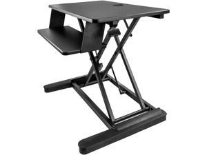 """StarTech.com ARMSTSLG Sit Stand Desk Converter - For two Monitors up to 24"""" or One 30"""" Monitor - 35"""" Work Surface - Stand Up Desk - Sit to Stand Desk"""