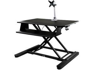 """StarTech.com BNDSTSLGPVT Sit-Stand Desk Converter with Monitor Arm - 35"""" Wide Work Surface - for up to 30"""" Monitor"""