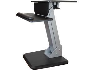 StarTech ARMSTS Height Adjustable Standing Desk Converter - Sit Stand Desk with One-finger Adjustment - Ergonomic Desk