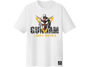 ASUS ROG T-Shirt GUNDAM EDITION Limited Edition, Short Sleeve, 100% Cotton, Reflective Glow-In-The-Dark Print, Durable Rib Crew Neck (Size L)