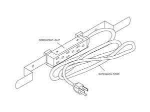 peerless-av acc320 electrical outlet strip