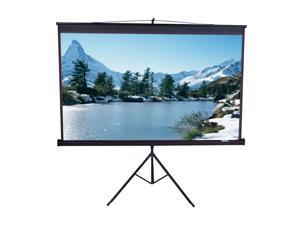 "Elitescreens 85"" Standard(1:1) Portable Tripod Portable Tripod Manual Pull Up Projection Screen (85"" 1:1 AR) (MaxWhite) T85UWS1"