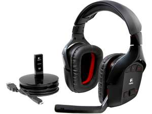 Logitech Wireless Gaming Headset G930 with 7.1 Surround Sound, Wireless Headphones with Microphone