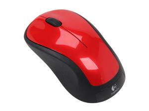 Logitech Logitech M310 Red Full Size Wireless Mouse M310 Flame Red 3 Buttons 1 x Wheel USB RF Wireless Laser Mouse