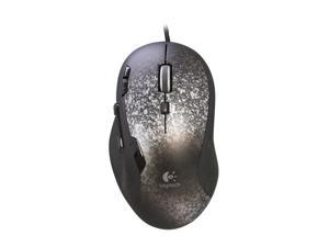 Logitech Recertified G500 Silver / Black 10-Button Dual-mode Scroll Wheel USB Wired Laser 5700 dpi Gaming Mouse