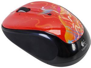 Logitech M325 910-002967 Crimson Ribbons Tilt Wheel USB RF Wireless Optical Mouse