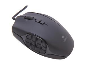 Logitech Recertified 910-002864 G600 MMO Gaming Mouse  Black 20 Buttons Tilt Wheel USB Wired Laser 8200 dpi Mouse